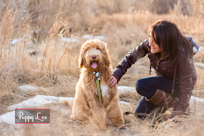 Girl and dog in Lethbridge photography