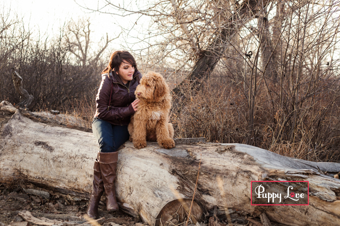 Happy photo of dog with person in Lethbridge Indian Battle Park