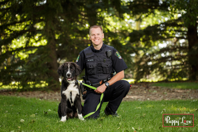 Gus and Cst. Mark Smith