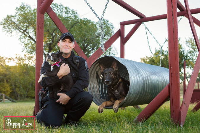 Ruby with Cst. Mike Darby, K9 Unit