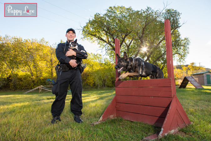 Ruby and Cst. Mike Darby, K9 Unit